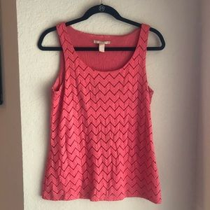 Coral Banana Republic Tank Top